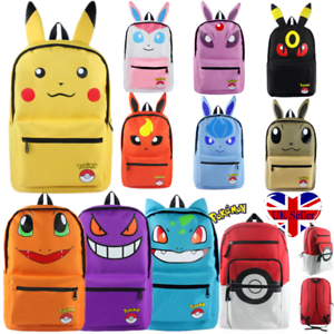 4c5f5315adf5 Details about Kids Pokemon Backpack Shoulder Bag Pikachu Eevee Umbreon  School Satchel Rucksack