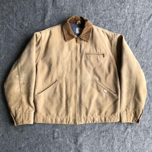 Vintage Carhartt Tan Canvas Jacket - Blanket Lined