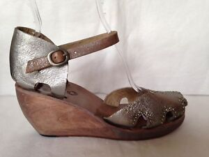 Calleen Cordero Leather Wedge Sandals outlet how much UlJJc9