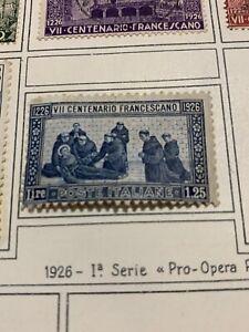 SETTIMO-CENTENARIO-MORTE-DI-SAN-FRANCESCO-LIRE-1-25-1926-Nuovo