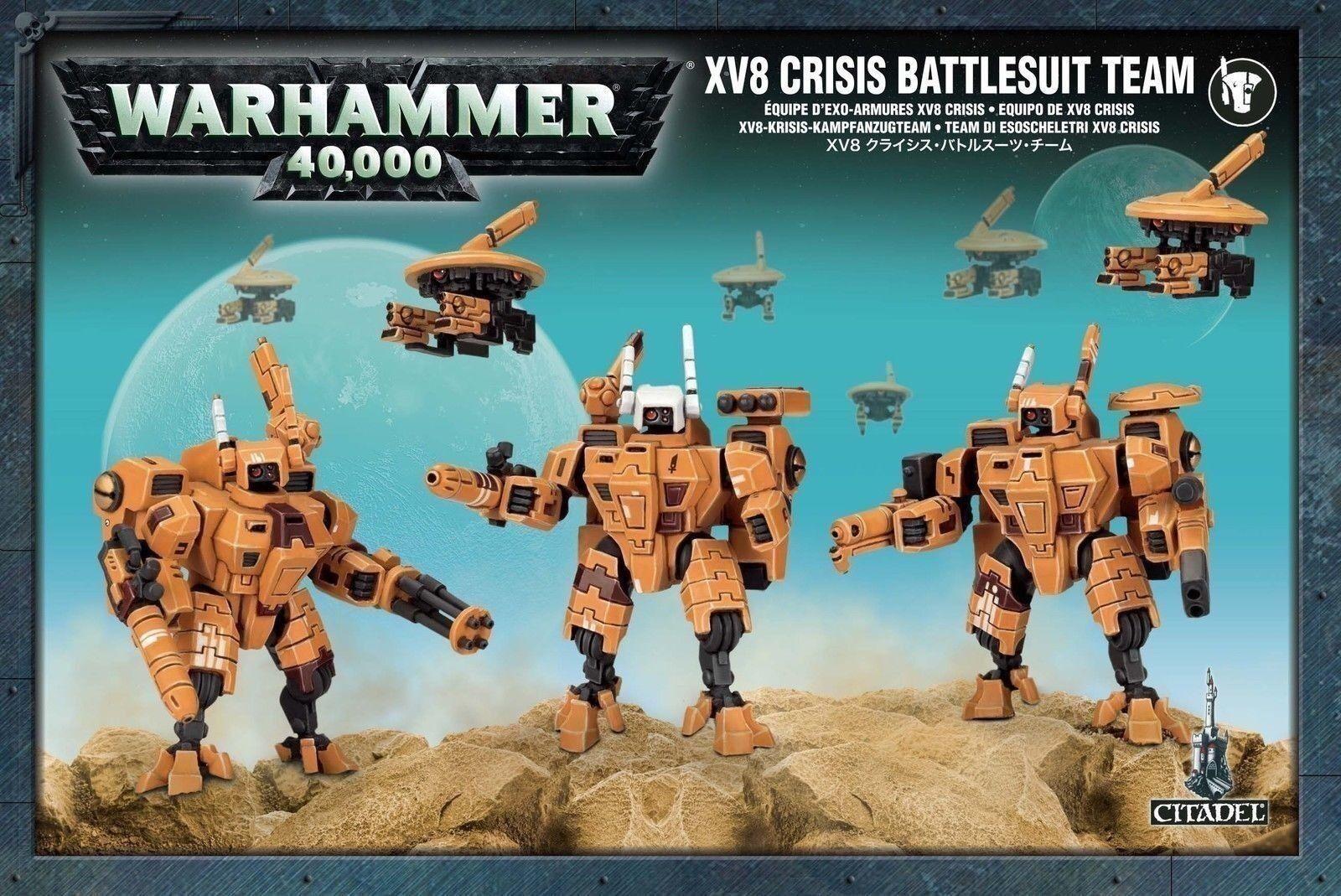 Entrega directa y rápida de fábrica Tau XV8 Crisis Battlesuit equipo Warhammer 40,000 Juegos taller taller taller  servicio considerado