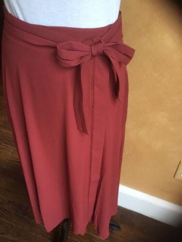 White House Black Market Wrap Maxi Skirt Cinnamon sizes 4 to 14 MSRP $110 NWT