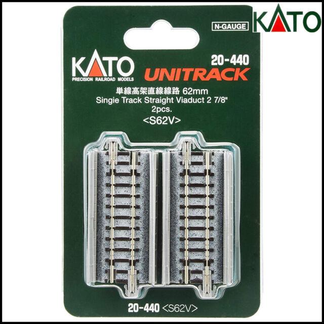 NEW KATO UNITRACK 20-440  SINGLE TRACK STRAIGHT VIADUCT 62MM 2PC