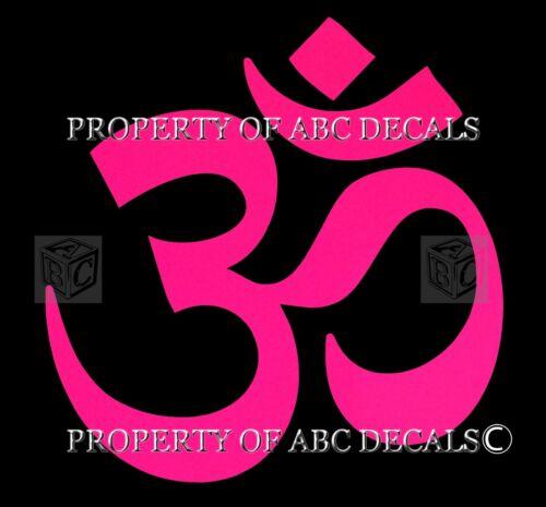 """VRS HOT YOGA Namaste Ohm Om Meditation Car Bumper Decal Wall Vinyl Sticker 5/"""""""