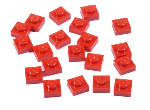 LEGO - 20 x Basic Platte 1x1 rot / Red Plate 1 x 1 / 3024 NEUWARE (a19)
