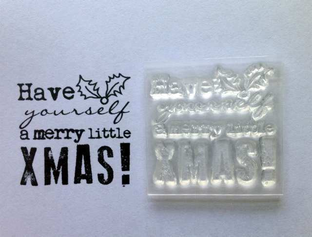 Have Yourself A Merry Little Xmas, Typewriter Font Clear Christmas Stamp