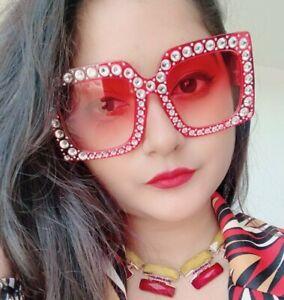 Designer-Upscale-Bling-Rhinestone-Large-Oversized-XXL-Womens-Sunglasses
