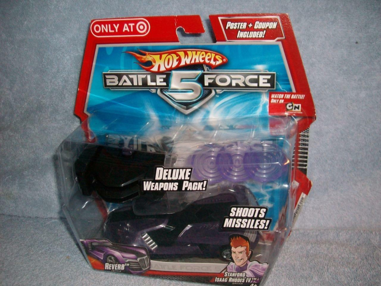 Reverb Stanford Isaac Rhodes IV Hot Wheels Battle Force 5 Exclusive Weapons 2009