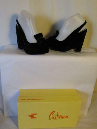 Black chaussures Castaner compensᄄᆭes Velvet 37 QrxBWdoeC