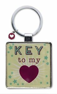 LITTLE WISHES KEYRING - KEY TO MY HEART