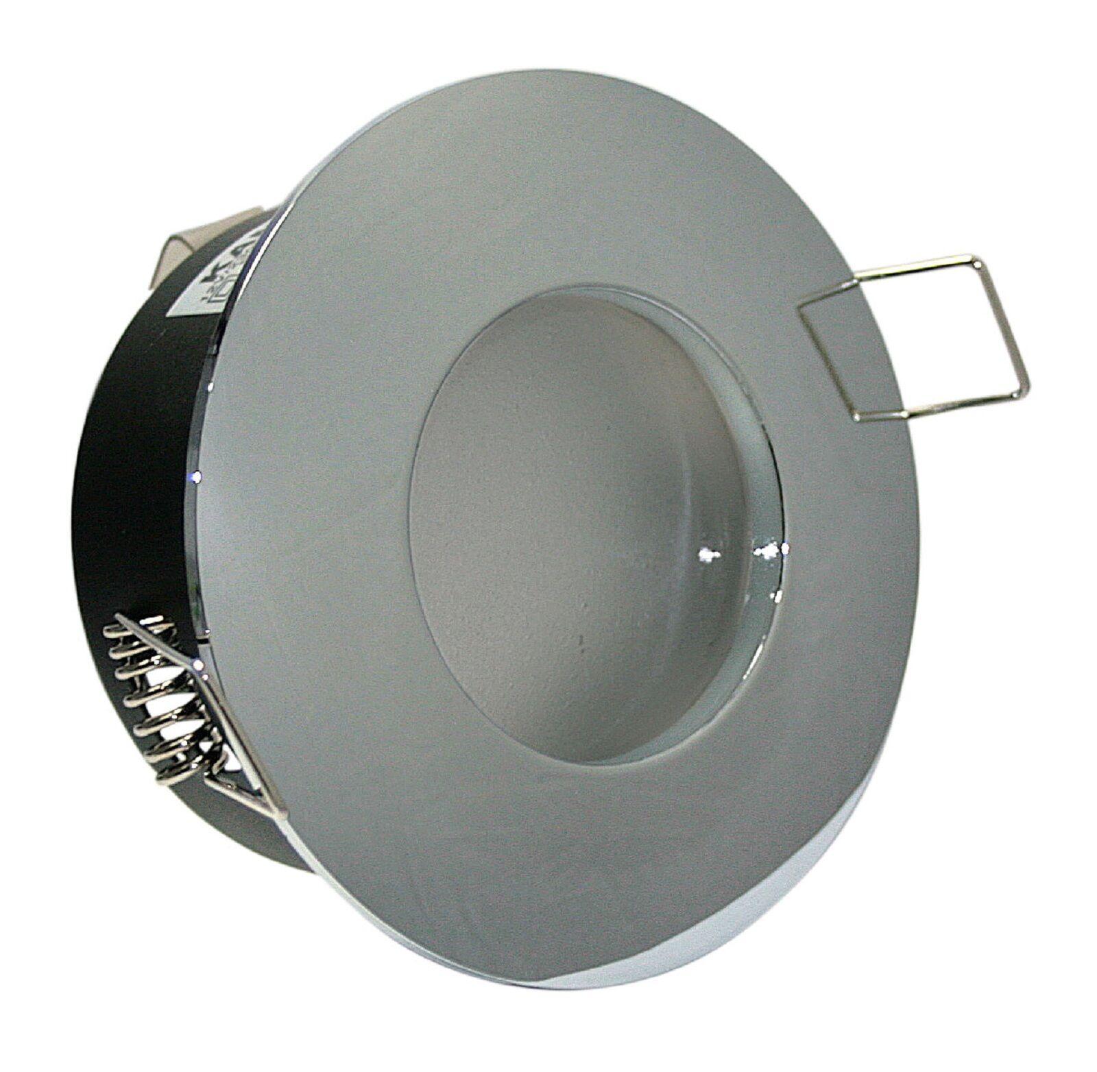12V LED Bad Dusche Einbaustrahler Feuchtraum IP65 rund inkl 5Watt Power LM MR16