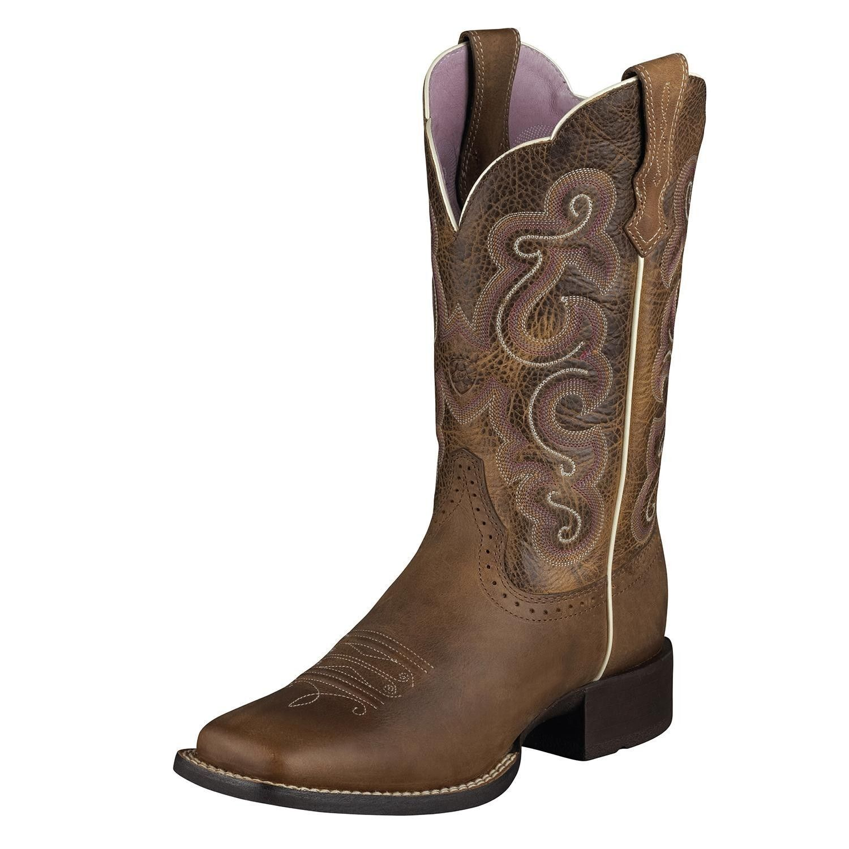 Ariat Damens Badlands Quickdraw Square Toe Western Boot Badlands Damens Braun 10006304 NIB 316993