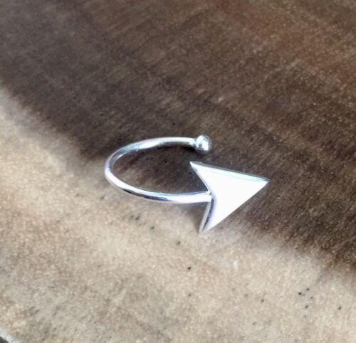 925 Sterling Silver Arrow Ball Ear Cuff