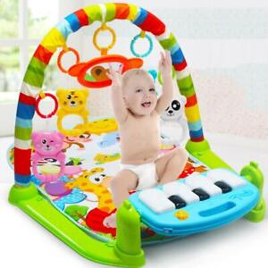 3 in1 Baby Gym Floor Play Mat Blanket Pedal Piano Musical Kick Fitness Play Toy*