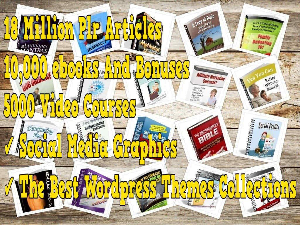 18 million plr articles 10k ebooks ,themes ,audio ,1000 videos, more bonus 150G