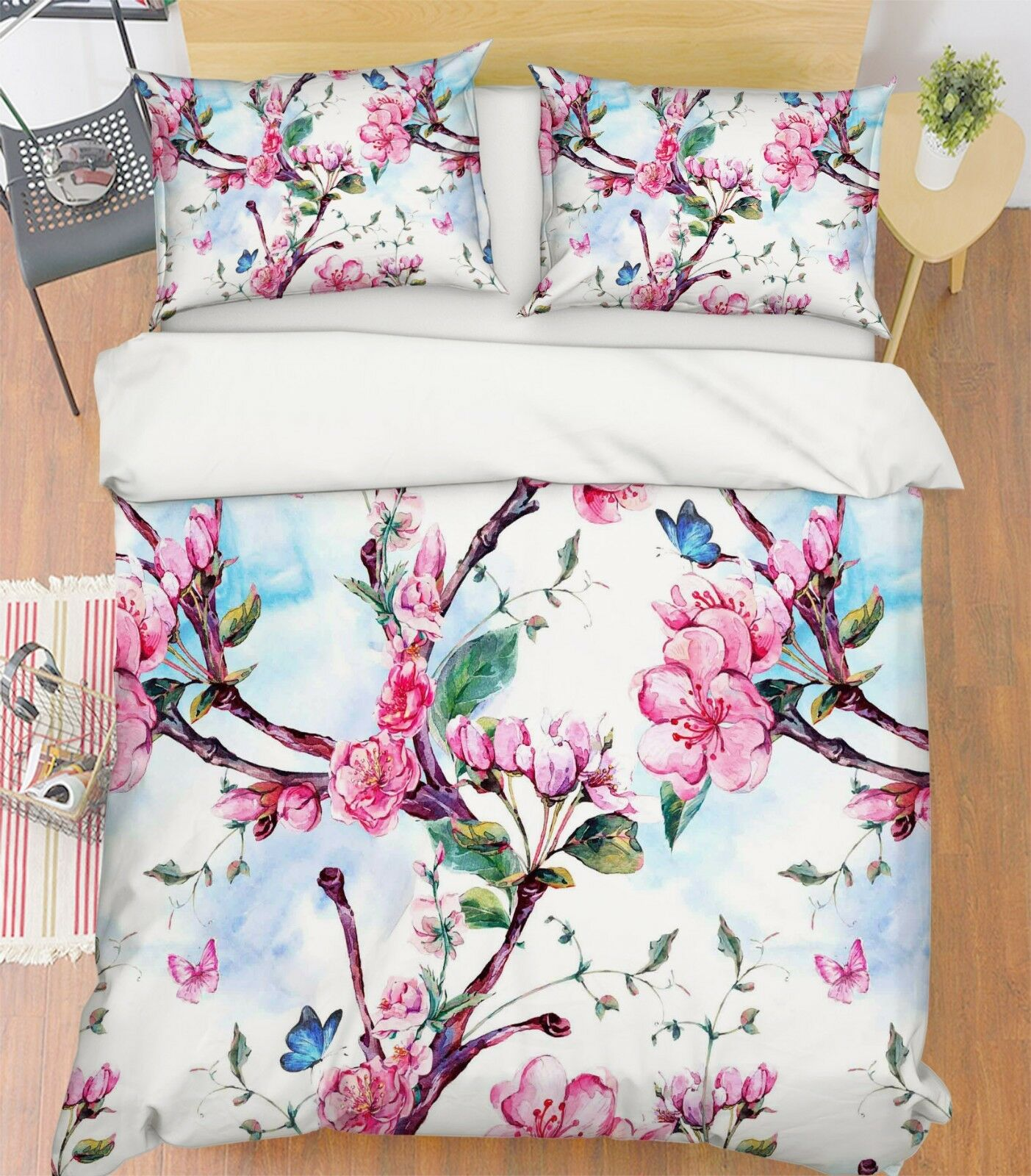 3D Flowers Natural 83 Bed Pillowcases Quilt Duvet Cover Set Single Queen King CA
