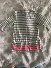 OshKosh tunic top size 6 girls/gray/white striped