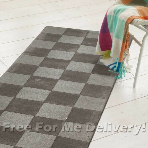 THICK HANDLOOMED NZ WOOL SMOKE GREY MODERN FLOOR RUNNER 80x400cm FREE DELIVERY