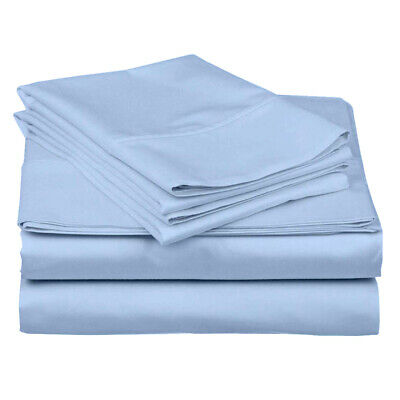 100/% Percale Cotton 4pc Pillow Bed Sheet Set Beige//Ivory 1000Tc Extra Deep