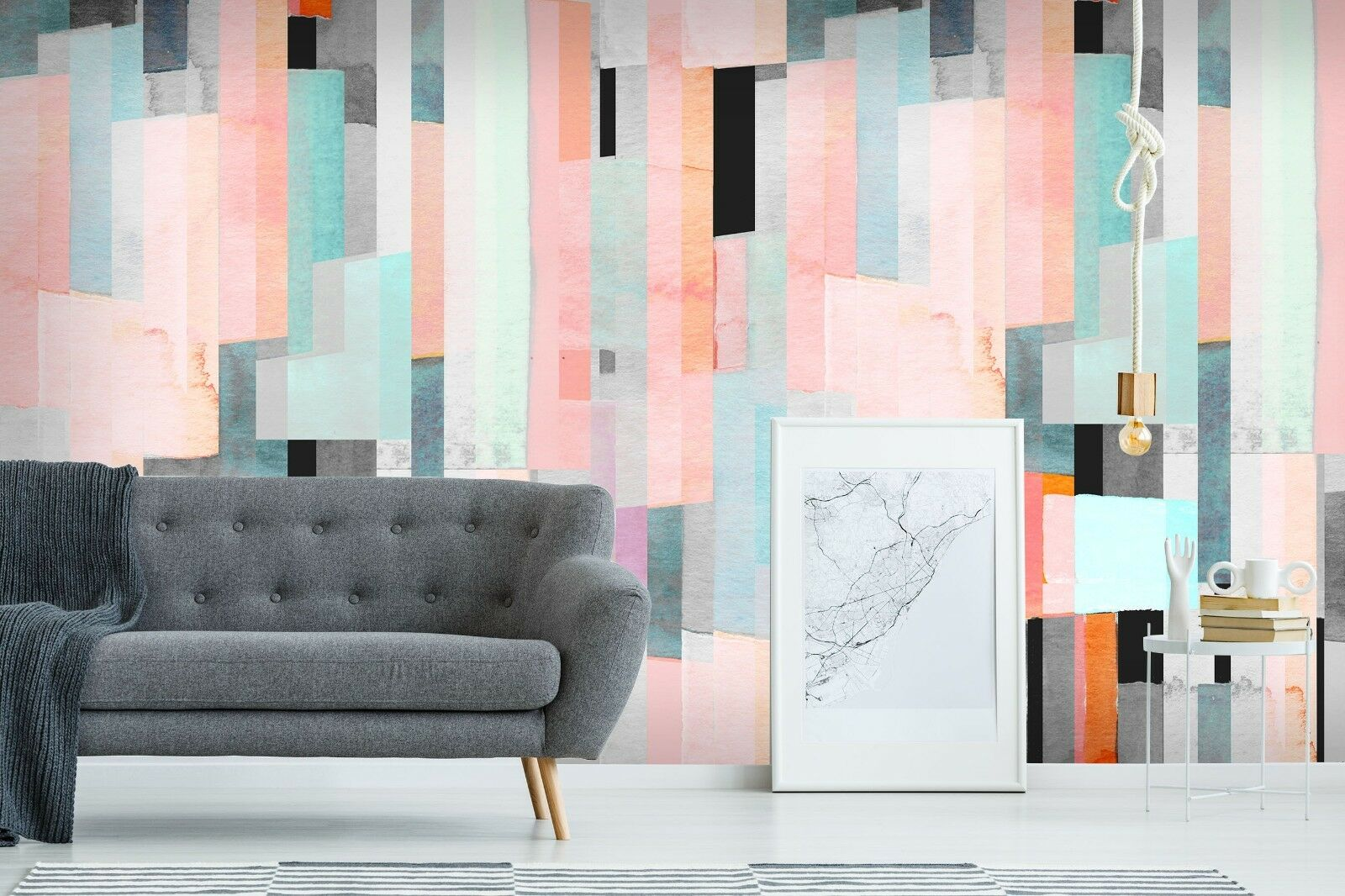 3D Farbeful Lines Paint 45 Wall Paper Wall Print Decal Deco Indoor Wall Mural CA