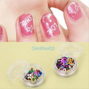 12pcs 3d alphabet letter nail art design stickers decoration decals