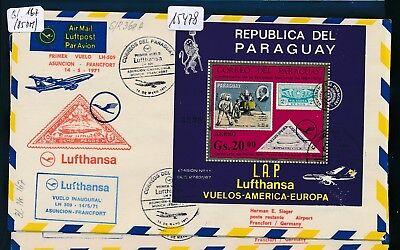 15478) Lh Ff Paraguay - Frankfurt 14.5.71, Sou Block 167 Space Zeppelin Bestellungen Sind Willkommen.