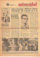 Periodico Universidad De Puerto Rico Rio Piedras 15 De Octubre 1954 Num. 95 UPR