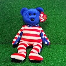 "GIFT! /"" USA PATRIOTIC TEDDY BEAR MWMTs TY Beanie Babies /""LIBERTY Blue Face"