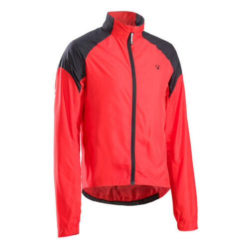 VESTE CYCLISME BONTRAGER RACE COUPE-VENT couleur ROUGE-NOIR taille M