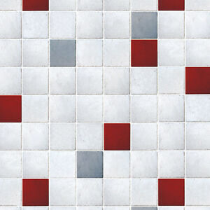 Image Is Loading Tile Design Wallpaper Ideas Shabby Chic Wall Covering