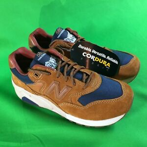 quality design a7602 965f2 Details about New Balance 580 Mens Sz 7.5 Cordura Brown Blue Mens Running  Sneakers NEW MT580SB