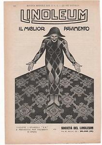 Pubblicita-epoca-LINOLEUM-PAVIMENTO-CASA-HOME-advert-werbung-publicite-reklame