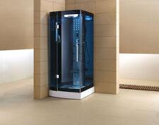 """36"""" Steam Shower w/Blue Tempered Glass-3KW Steam Generator-7 YEAR WARRANTY"""