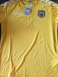 Details about Hummel Mens largeCopa Univision Jersey Top White Yellow  Soccer Futbol Sports top