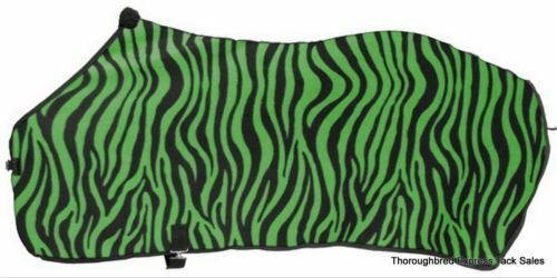 Green Zebra Print Softfleece Blanket Liner Sheet Medium 72-74  Western English