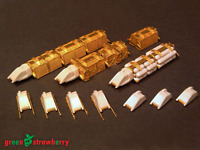 Green Strawberry Models 1/350 Star Trek Work Bee Cargo Train All In One Set