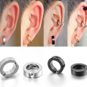 Image Is Loading Stainless Steel Men Non Piercing Clip On Ear