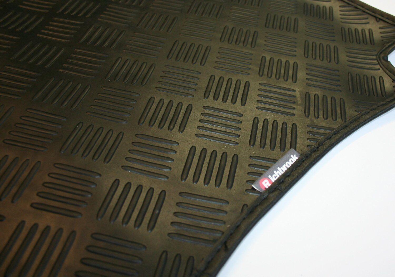 Mercedes Clc (08-now) Richbrook Negro 3 Mm De De De Goma coche Mats-Ribete En Piel 59bed6