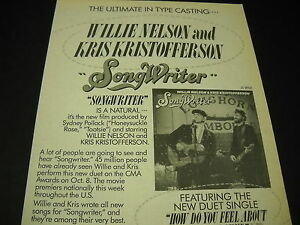 KRIS-KRISTOFFERSON-and-WILLIE-NELSON-Ultimate-Type-Casting-1984-PROMO-DISPLAY-AD
