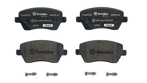 P 68 033X Almohadillas de freno BREMBO XTRA LINE Front Brembo para RENAULT CLIO III para