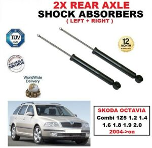 REAR SHOCK ABSORBERS for SKODA OCTAVIA Combi 1Z5 1.2 1.4 1.6 1.8 1.9 2.0 2004-on