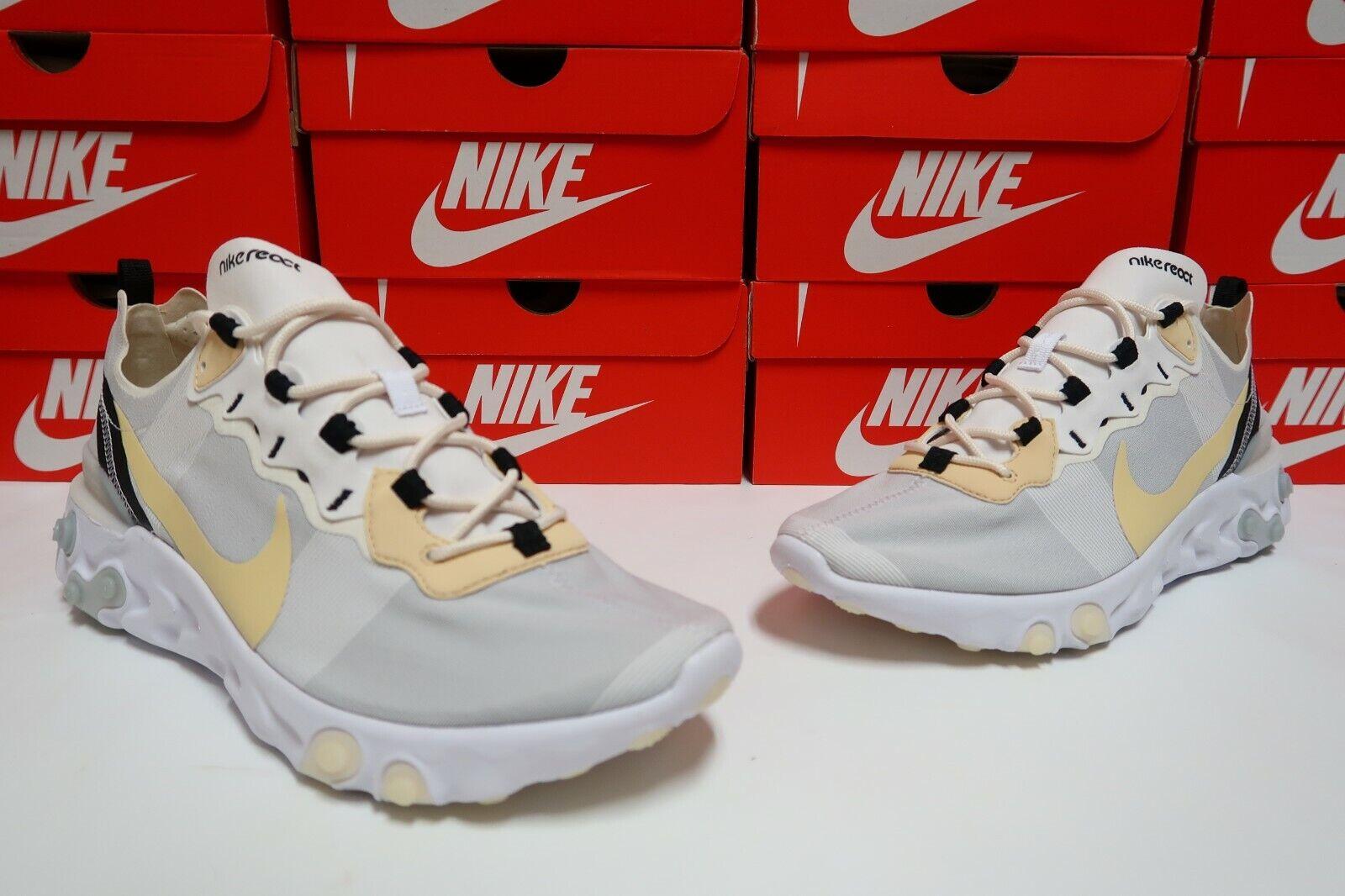 Nike réagissent EleHommest 55 Pour des hommes FonctionneHommest Décontracté Chaussure Pâle Vanille BQ6166-101 T 10.5