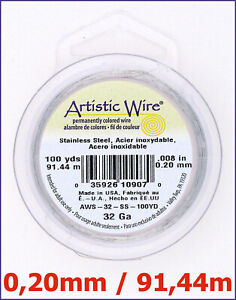 Artistic-Wire-Stahldraht-0-20-mm-Dick-91-44-m-lang