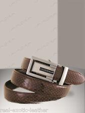 Brown Cobra Snake Skin Belt  ### Genuine Snakeskin ###