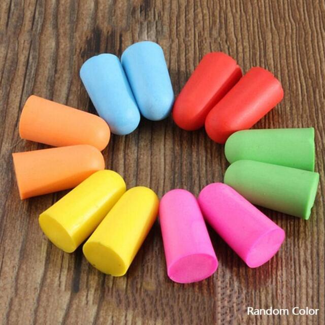 10 20 50 Pairs Disposable Foam Ear Plug Noise Reducer Uncorded Individul Wrap JS