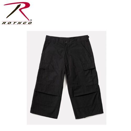 Cargo Tasche TAGLIE XS A Nero da Uomo Pinocchietto Bdu Ripstop Pantaloni con