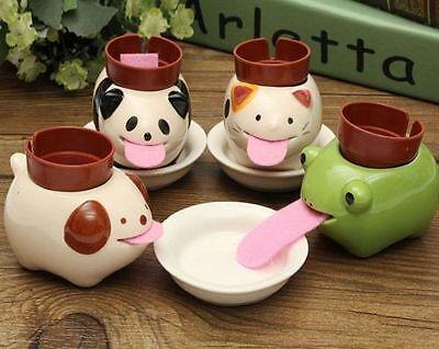 Ceramic Self Watering Plant Pot Mini Drinking Animal Tongue Crtitters Flower 1pc