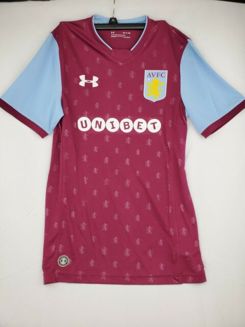 Under Armour Aston Villa 17 18 Home Shirt Royal Magena Size Small For Sale Online Ebay