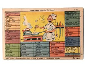 Home-Sweet-Home-On-Th-039-Range-Busy-Correspondence-Card-Postcard-August-7-1940