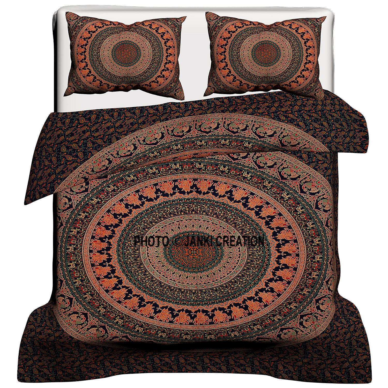 Indian Cotton Mandala Queen Size Duvet Cover Comforter Bedding Bedspread Sets